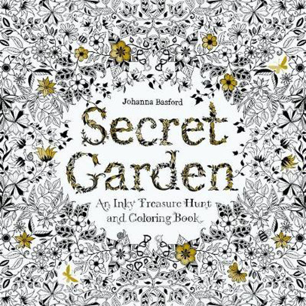 Picture of Secret Garden: An Inky Treasure Hunt and Colouring Book