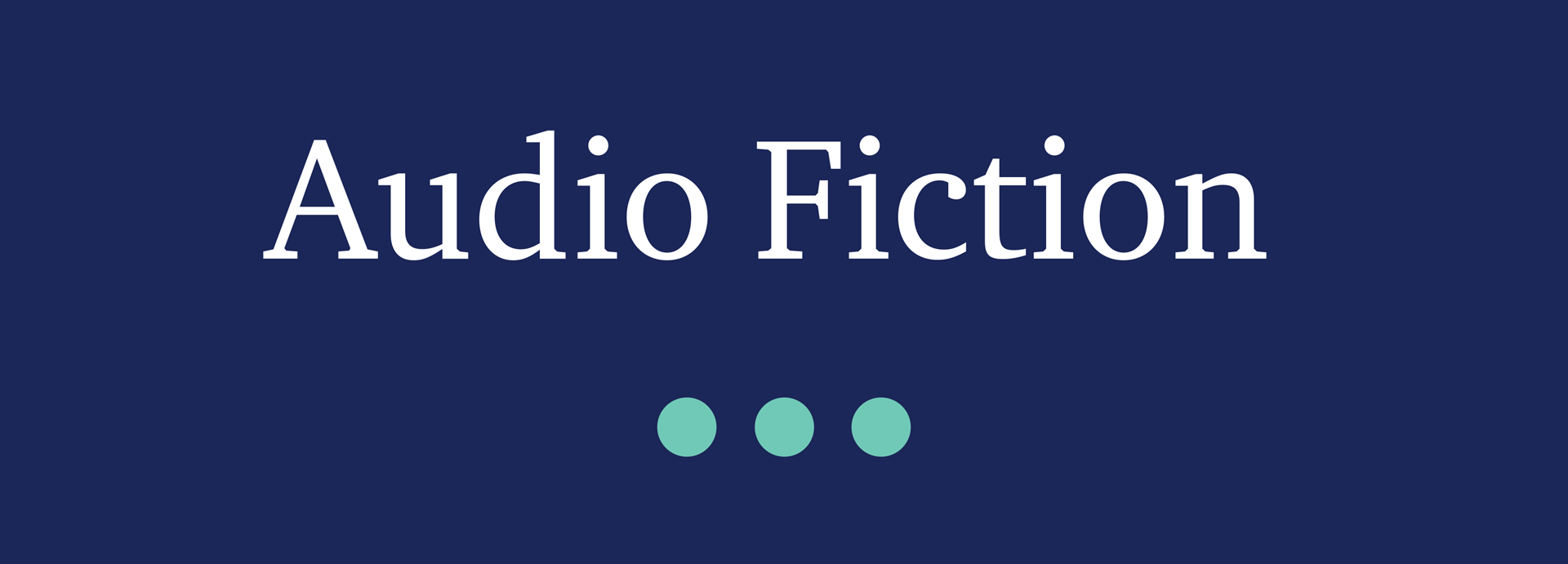 Picture for category Audio Fiction