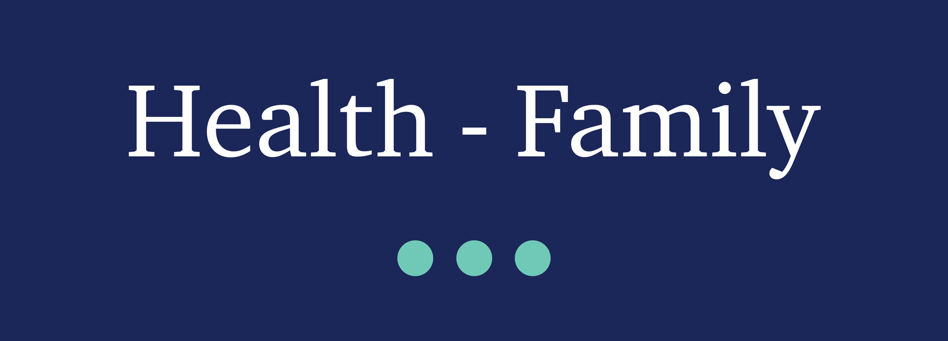 Picture for category Health - Family