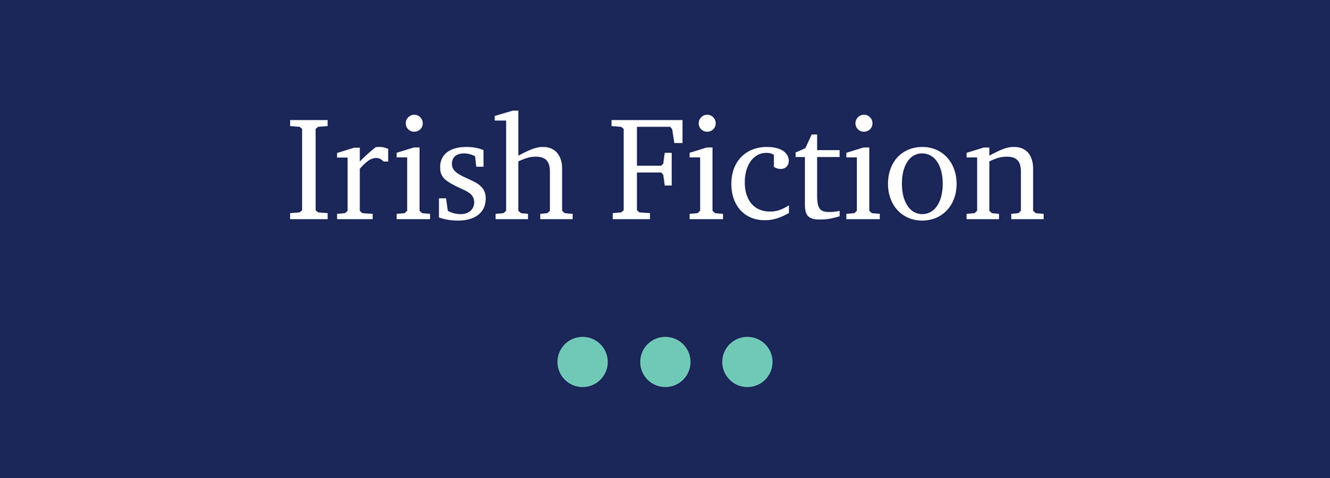 Picture for category Irish Fiction