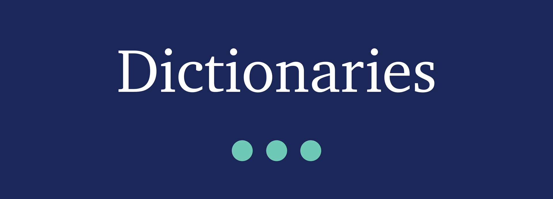 Picture for category Dictionaries