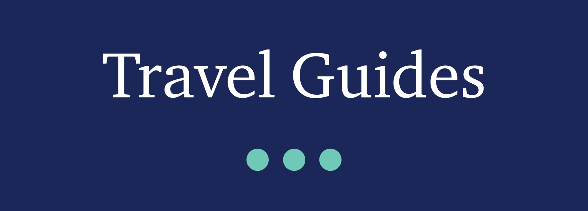 Picture for category Travel Guides